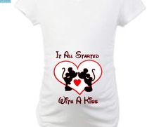 Disney Maternity Shirt  It All Started With a Kiss by BradysBits