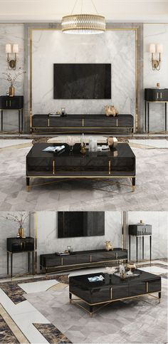 Light luxury TV cabinet coffee table inspiration - TV lounge - Inspired by the designs of rustic barns and mountain lodges, this charming TV Stand - Tv Lounge Design, Tv Wall Design, Tv Unit Design, Contemporary Tv Units, Modern Tv Units, Armoire Tv, Tv Cabinet Design, Modern Tv Cabinet, Tv Unit Decor