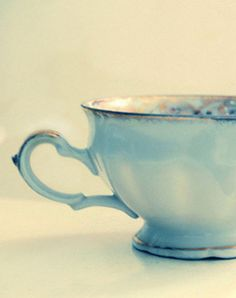 Beautiful Tiffany coloured tea cup