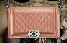 holy.. hello beautiful! gorgeous chanel bag from boy chanel spring 2012