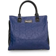20% off today -- who wants to buy it for me?? =)   Sugar Skull Embossed Tote by Loungefly (Blue/Black)