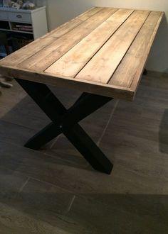 Eettafel steigerhout