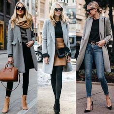 Like the coat/sweater look. Winter Fashion Outfits, Fall Winter Outfits, Work Fashion, Autumn Winter Fashion, Winter Clothes, Classy Business Outfits, Casual Work Outfits, Mode Outfits, Moda Paris