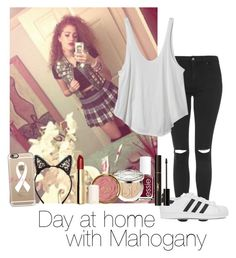 """Day at home with Mahogany"" by autumnfarmer on Polyvore featuring Topshop, RVCA, adidas Originals, Essie, Christian Dior, Milani, H&M, Fleur du Mal, Yves Saint Laurent and Casetify"