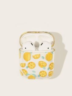 Shop Lemon Pattern Airpods Box Protector at ROMWE, discover more fashion styles online. Cute Ipod Cases, Iphone Cases, Iphone 5c, Fone Apple, Accessoires Iphone, Earphone Case, Air Pods, Airpod Case, Iphone Accessories