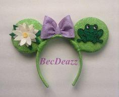 Princess and the frog Tiana Minnie Mouse  ears headband on Etsy, $25.00