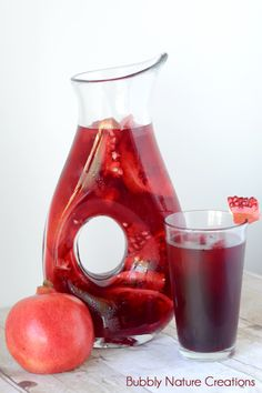 Pomegranate Green Iced Tea aka {Butterfly Nectar}