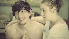 Adam Driver and Lena Dunham in HBO's Girls