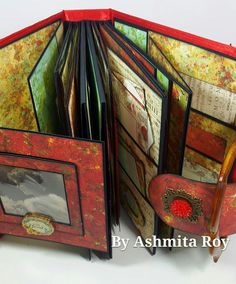 this Mini album is amazing using the Bella Rouge collection from Prima ... bet you thought it was an actual handbag . there is also a  video . you have to see the inside. #minialbum #desingteam #prima #bella rouge #primabellarouge