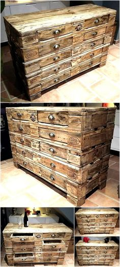pallets wooden chest of drawers