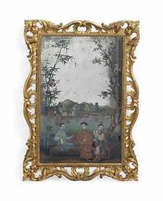 A CHINESE REVERSE-GLASS MIRROR PAINTING  18TH CENTURYhttp://www.christies.com/: