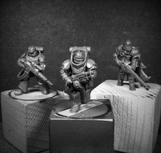 So here are Stage 2 concepts for Assault Troopers of the Black Phallanx Penal Crusade... . To eleborat