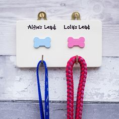 Gift for dog owners -  personalised dog lead hangers - pets - dog gifts - pet lovers - gift for dog owner - gift for dog - New Puppy gift by SiopGardd on Etsy https://www.etsy.com/uk/listing/250120956/gift-for-dog-owners-personalised-dog