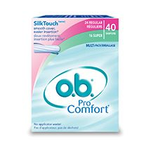 o.b. Pro Comfort Tampons I already use this brand, but have not tried the pro-comfort ones.