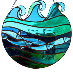 'Beneath the Waves' Stained Glass Panel £110.00