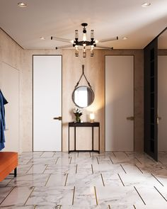 GUBI // Adnet Circulare Mirror by Jacques Adnet