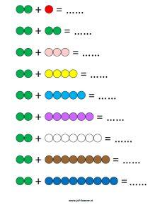 Kralenstaafjes werkblad 2 kleur vb