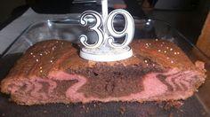 Gâteau zèbré chocolat et vanille