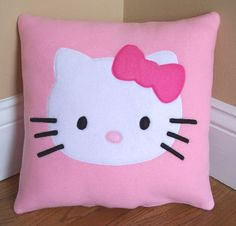 Hello Kitty Pillow by My3SillyMonkeys on Etsy, $20.00 @Daniela Maselli Yanez