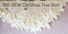 How To Make a NO-SEW Christmas Tree Skirt