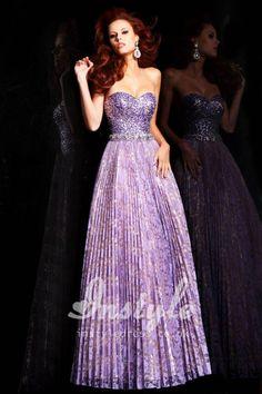 fabulous purple beaded strapless sweetheart long prom dress.....this dress is stunning! MFOT?