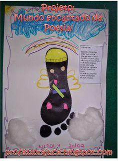 Projetos para Educação Infantil, Brinquedos e brincadeiras, lembrancinhas e planos de aula. Alice, Poetry For Kids, Children's Literature, Reading Projects, Poems, Index Cards, Classroom, Spring, Egg