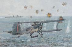 Air attack by Swordfish from HMS Ark Royal, 9.10pm, 26 May 1941