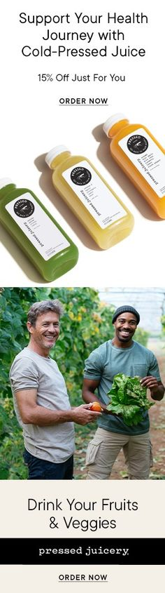 Delivered straight to your door! Cold-pressed juices chock full of vitamins, minerals, and antioxidants. Amazing juice blends for making cocktails and smoothies! Healthy shots of powerful ingredients such as honey and apple cider vinegar to make living healthy so much easier! Tasty formulas perfectly blended for cleanses and fasting to give your body all the nutrients it needs!