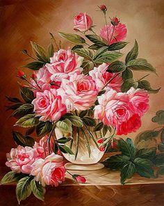 Розовый букет - Схемы вышивки - Miss_Ikss - Авторы - Портал «Вышивка крестом»