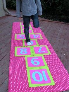 Fabric Hopscotch! @Vicki Smallwood Villalobos maybe u can sew for Jyselle n Mya =)