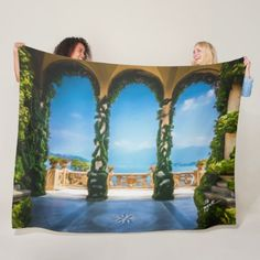Arches of Italy Colorful Elegant Photo Art Fleece Blanket - artists unique special customize presents