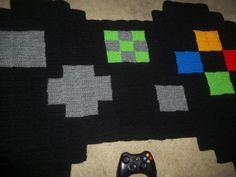 Giant pixel Xbox controller rug