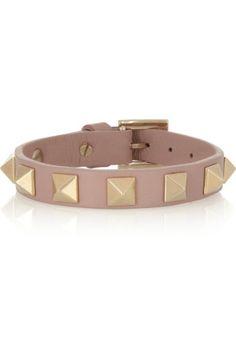 Valentino|Rockstud small leather bracelet |NET-A-PORTER.COM