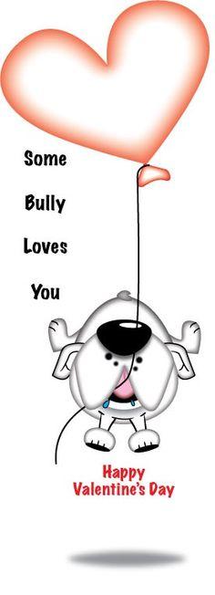 Happy Valentine's Day. A #bulldog #valentine just for U