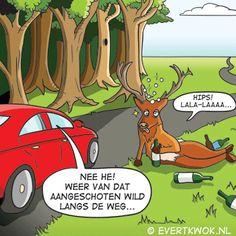 Aangeschoten wild cartoon evert kwok
