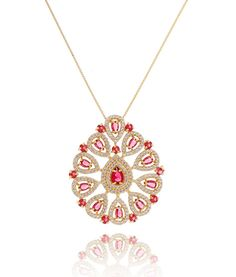 f3b46017fe9 Colar luxo rubi folheado a ouro semi joias modernas online