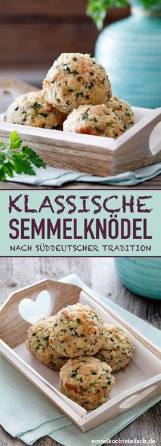 Klassische Semmelknödel - www.emmikochteinfach.de