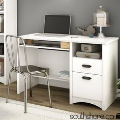 South Shore Gascony Computer Desk with Keyboard Tray & Reviews   Wayfair