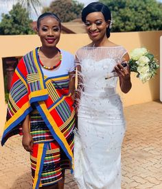 South African Wedding Dress, South African Weddings, Short African Dresses, Wedding Attire, Wedding Dresses, Traditional Fashion, Clothing Styles, Sari, Fashion Outfits