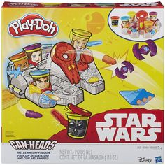Let kids' imaginations soar to far off galaxies with the Play-Doh Can-Heads Toy. It is a unique activity set that makes cans part of the action since they look like famous Star Wars characters. This kids' toy features Luke Skywalker, Han Solo, Princess Leia, Chewbacca and Darth Vader, and each character/can contains 2 oz of the classic moldable construction compound. It works with regular Play-Doh compound and Play-Doh accessories for those looki >>> Continue to the product at the image…
