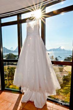 Vestido de uma noiva no Hotel.
