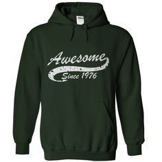 Wear this awesome Hoodies now... http://www.sunfrogshirts.com/Awesome-since-1976-Black-Hoodie.html?6199