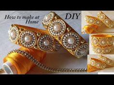 Making of designer silk thread bangles at home Silk Thread Bangles Design, Silk Bangles, Bridal Bangles, Thread Jewellery, Bridal Jewelry, Stylish Jewelry, Diy Jewelry, Handmade Jewelry, Jewelry Making Tutorials