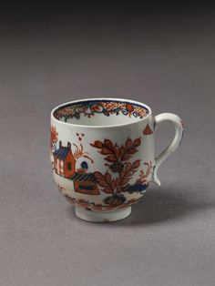 Coffee-cup   Lowestoft porcelain factory   V Search the Collections