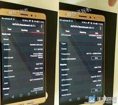 Mola: Se filtran imágenes de AnTuTu del posible Huawei Mate 7 Mini