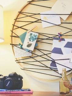 String Up Memos --- Some strategically placed twine and thumbtacks turn this ring into a spot to display invitations, greeting cards, and other reminders.