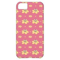 Pink Happy Cartoon Bee Pattern Cover For iPhone 5C $42.95 #iphone5c #iphonecase #iphone