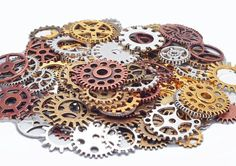 Mechanical Gears Metal Accessories Steampunk DIY 50g lot