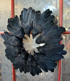 Clever! Raven Wreath from Dollar Tree