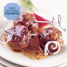 BHG Tested: Sweet, Hot & Sour Meatballs | We taste a lot of meatballs in a given year at Better Homes and Gardens (including appetizers and spaghetti toppers), but this batch stood out thanks to its apple jelly, spicy brown mustard, and cooked-down whiskey, which each offer a hint of sweet, savory, or spicy flavor.